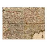 Mapa compuesto de acuerdos franceses postal