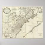 Mapa compuesto de Canadá Póster