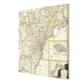 Mapa compuesto de Estados Unidos Lona Estirada Galerias