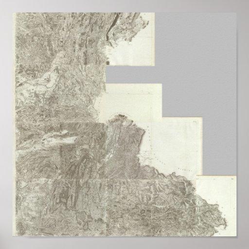 Mapa compuesto de Francia 4 Póster