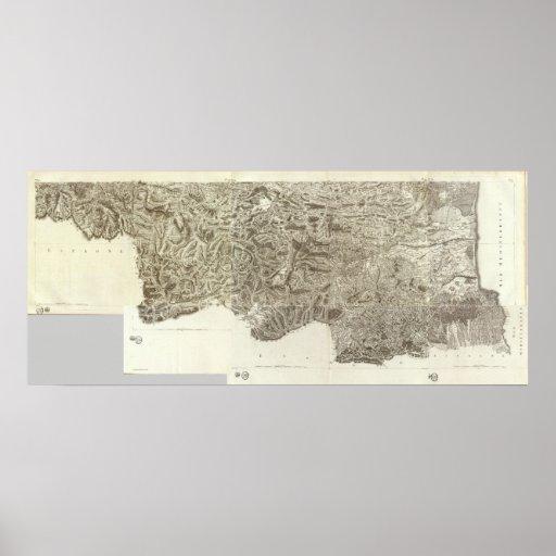 Mapa compuesto de Francia Poster