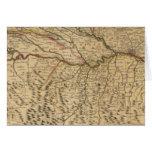 Mapa compuesto del valle del río Po Tarjeta De Felicitación