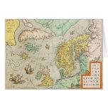 Mapa con los veleros tarjetas