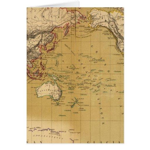 Mapa continental felicitacion