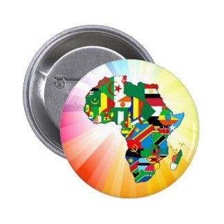 Mapa continente 2 de la bandera de África Pin