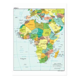 Mapa continente de África Postales