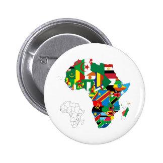 Mapa continente de la bandera de África Pins
