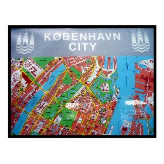 mapa Copenhague Postales