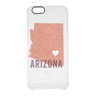 Mapa coralino topográfico de Arizona del amor y Funda Clear Para iPhone 6/6S