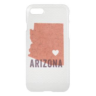 Mapa coralino topográfico de Arizona del amor y Funda Para iPhone 7