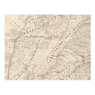 Mapa, Corrientes Prov, misión de Terr Tarjeta Postal