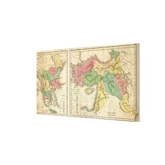 Mapa cronológico de Turquía Impresión En Lienzo Estirada
