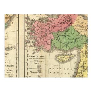 Mapa cronológico de Turquía Tarjeta Postal