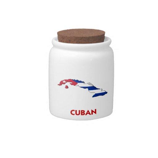 MAPA CUBANO JARRA PARA CARAMELO