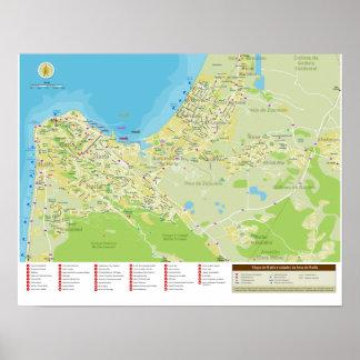 Mapa da Cidade de Haifa em Israel Poster
