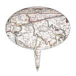 Mapa das Terras do Paraíso, e Terra Santa Cake Toppers