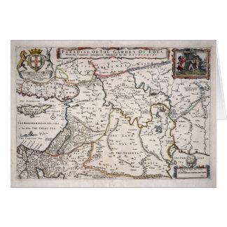 Mapa das Terras do Paraíso, e Terra Santa Card