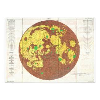 Mapa de 1961 U S G S Photogeologic de la luna Anuncio Personalizado