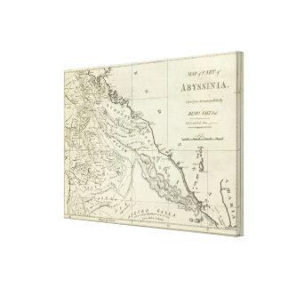 Mapa de Abyssinia Impresión En Lona