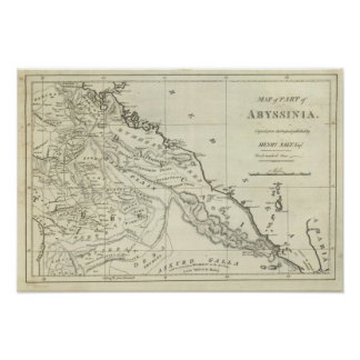 Mapa de Abyssinia Impresiones