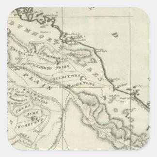 Mapa de Abyssinia Pegatina Cuadrada