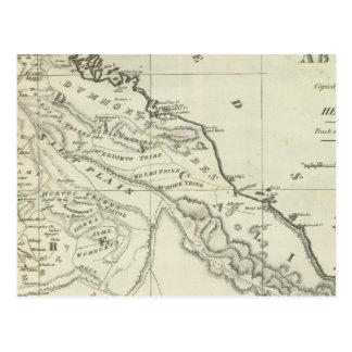 Mapa de Abyssinia Tarjeta Postal