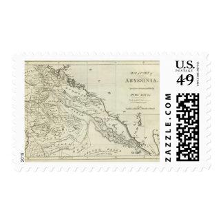 Mapa de Abyssinia Timbres Postales