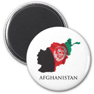 Mapa de Afganistán Imán Redondo 5 Cm