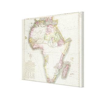 Mapa de África, 1821 Impresión En Lona