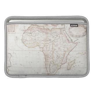 Mapa de África 2 Fundas Para Macbook Air