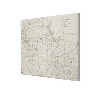 Mapa de África 2 Lona Envuelta Para Galerias