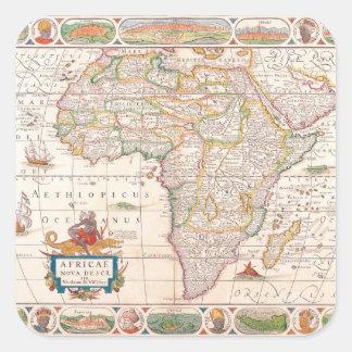 Mapa de África 2 Pegatina Cuadrada