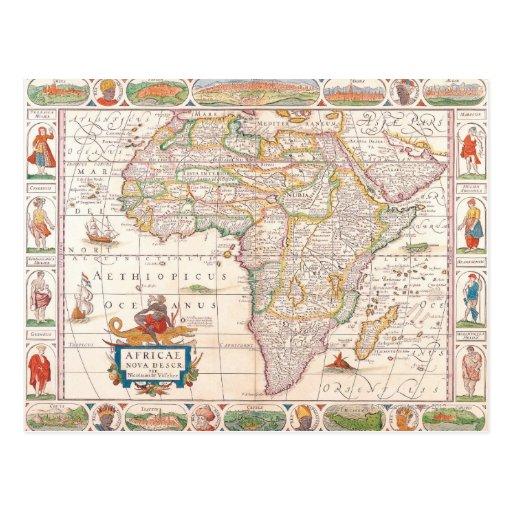 Mapa de África 2 Postal
