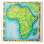 Mapa de África 3 Azulejo
