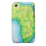 Mapa de África 3 iPhone 3 Funda