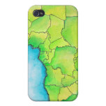 Mapa de África 3 iPhone 4 Carcasa