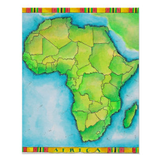 Mapa de África 3 Posters