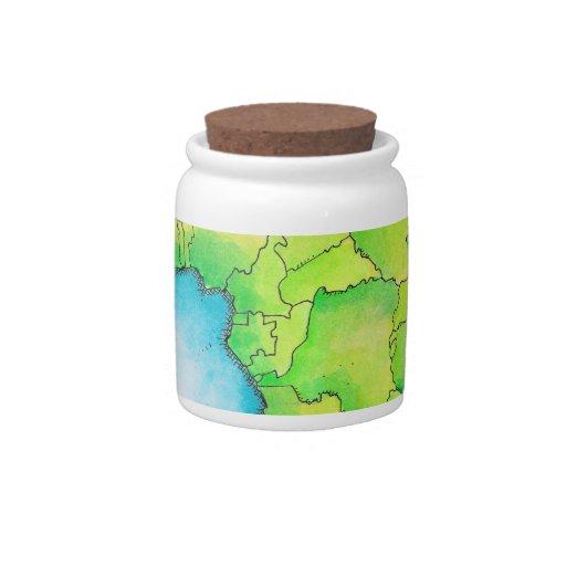 Mapa de África 3 Platos Para Caramelos