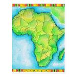 Mapa de África 3 Postal