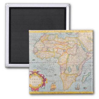 Mapa de África 4 Imán Cuadrado