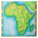Mapa de África Azulejo Cuadrado Grande