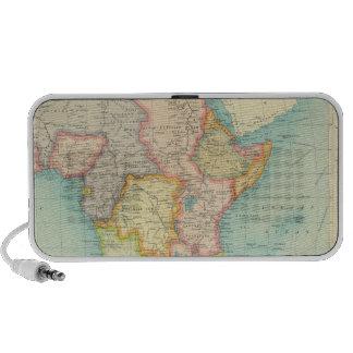 Mapa de África con las rutas de envío Portátil Altavoces