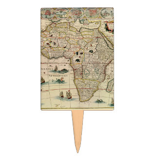 Mapa de África de los 1660's del vintage de Willem Palillos De Tarta