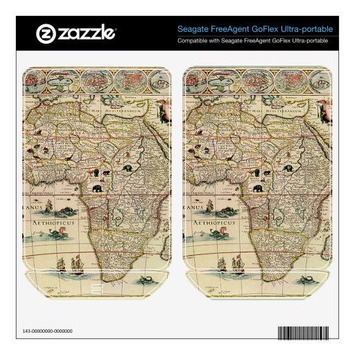 Mapa de África de los 1660's del vintage de Willem FreeAgent GoFlex Skin