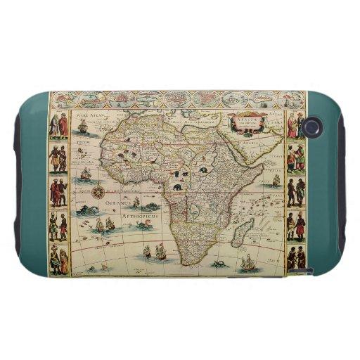 Mapa de África de los 1660's del vintage de Willem Tough iPhone 3 Cárcasa