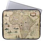 Mapa de África de los 1660's del vintage de Willem Funda Portátil
