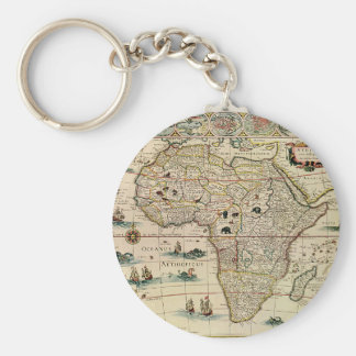 Mapa de África de los 1660's del vintage de Willem Llavero Redondo Tipo Pin