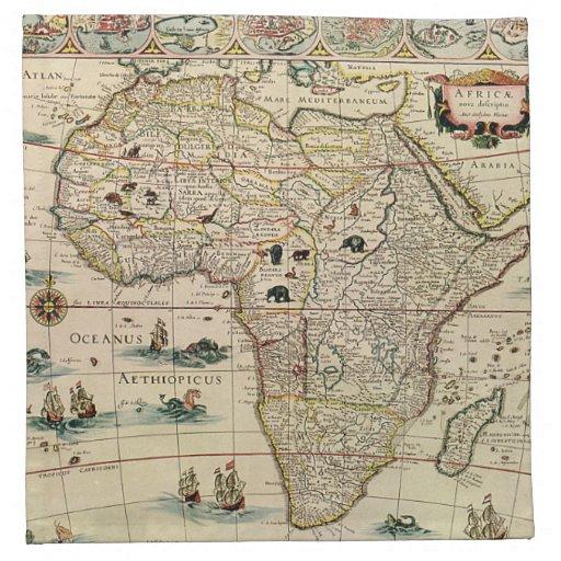Mapa de África de los 1660's del vintage de Willem Servilleta