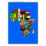 Mapa de África del mapa de la bandera de país afri Tarjeta De Felicitación