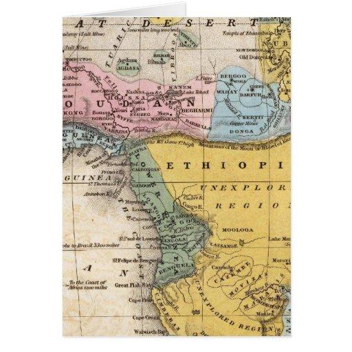 Mapa de África Felicitaciones